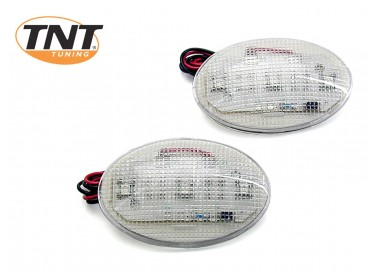 PAIRE LAMPES A COLLER OVALE BLANCHES YM1